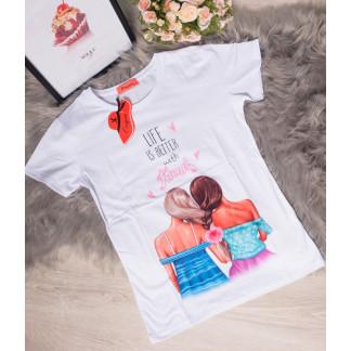 17077-9 Origin футболка женская с ярким принтом летняя стрейчевая (размер универсал, от 1 ед.) Origin: артикул 1093353