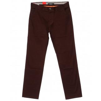 0029-31 Feerars брюки мужские батальные коричневые весенние стрейчевые (34-44, 8 ед.) Feerars: артикул 1093553