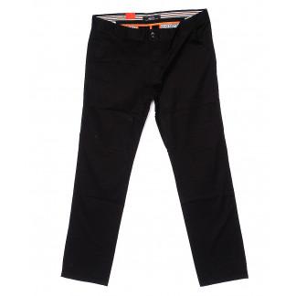 0029-34 Feerars брюки мужские батальные черные весенние стрейчевые (34-44, 8 ед.) Feerars: артикул 1093555