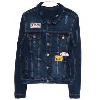 0083 Jack Johnson куртка джинсовая мужская c вышитым декором осенняя котоновая (S-XL, 4 ед.) Jack Johnson: артикул 1094163