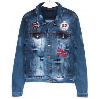 0089 Quartz куртка джинсовая мужская c вышитым декором осенняя котоновая  (S-XL, 4 ед.) Quartz: артикул 1094164