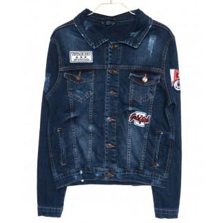 0084 Orjean куртка джинсовая мужская c  вышитым декором осенняя котоновая  (S-XL, 4 ед.) Orjean: артикул 1094167
