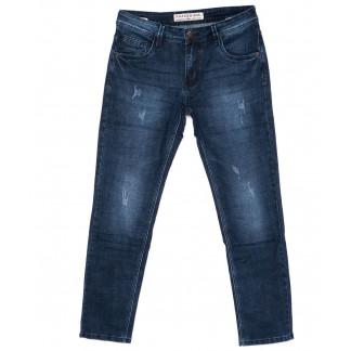 8156 Fangsida джинсы мужские батальные синие с царапками осенние стрейч-котон (32-38, 8 ед.) Fangsida: артикул 1095041