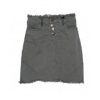 0501-серый Redmoon юбка джинсовая серая осенняя котоновая (25-30, 6 ед.)  REDMOON: артикул 1095612