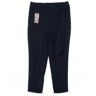 0541-синий X брюки женские батальные темно-синие с поясом осенние стрейчевые (48-54, батал, 4 ед.) X: артикул 1096076
