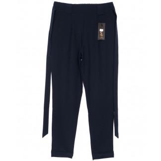 0543-синий X брюки женские темно-синие с поясом осенние стрейчевые (40-46, норма, 4 ед.) X: артикул 1096080