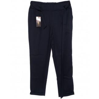 0535-синий X брюки женские батальные темно-синие с поясом осенние стрейчевые (48-54, батал, 4 ед.) X: артикул 1096082