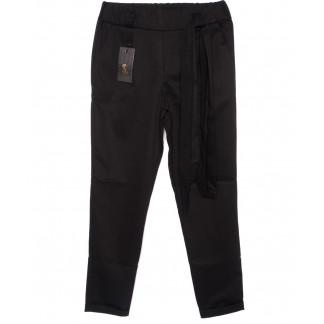 0534-черный X брюки женские черные с поясом осенние стрейчевые (40-46, норма, 4 ед.) X: артикул 1096083