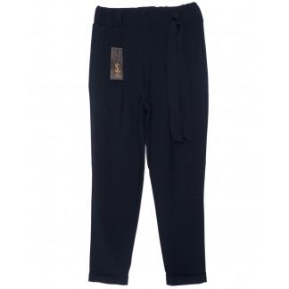 0540-синий X брюки женские темно-синие с поясом осенние стрейчевые (40-46, норма, 4 ед.) X: артикул 1096092