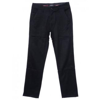 0037-P-116 (37P-116) Feerars брюки мужские молодежные классические темно-синие осенние стрейчевые (27-34, 8 ед.)  Feerars: артикул 1096165