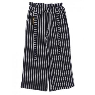 0008-синий X брюки женские в полоску темно-синие осенние стрейчевые (42-48, норма, 4 ед.)  X: артикул 1096190