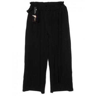0007-черный X брюки женские с поясом черные осенние стрейчевые (42-48, норма, 4 ед.)  X: артикул 1096191