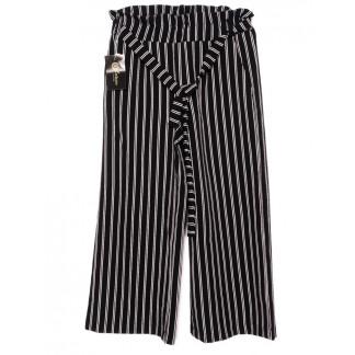 0008-черный X брюки женские в полоску черные осенние стрейчевые (42-48, норма, 4 ед.)  X: артикул 1096194