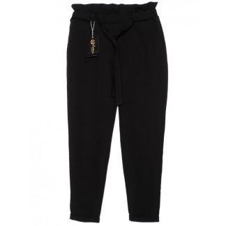 0002-черный X брюки женские с поясом черные осенние стрейчевые (42-48, норма, 4 ед.)  X: артикул 1096195