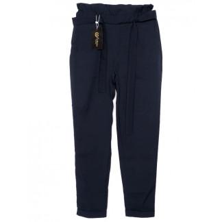 0002-синий X брюки женские с поясом темно-синие осенние стрейчевые (42-48, норма, 4 ед.)  X: артикул 1096196