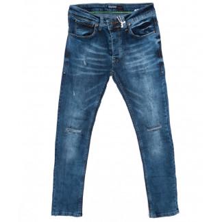 4391 Destry джинсы мужские с рванкой синие осенние стрейчевые (29-36, 8 ед.) Destry: артикул 1096438