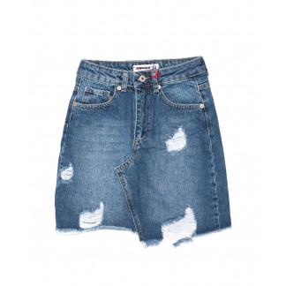1905 XRAY юбка джинсовая с рванкой осенняя котоновая (34-40, евро, 6 ед.) XRAY: артикул 1096471