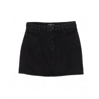 6010-B1 Real Focus юбка батальная джинсовая черная осенняя котоновая (30-34, 5 ед.) Real Focus: артикул 1096487