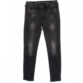 8144 Fangsida джинсы мужские молодежные темно-серые осенние стрейчевые (27-34, 8 ед.) Fangsida: артикул 1096621