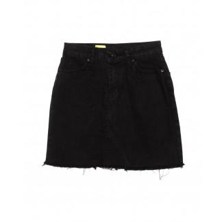 2021 X юбка джинсовая черная осенняя котоновая (XS-L, 6 ед.) X: артикул 1096748