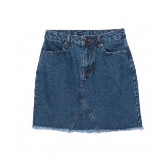 1695 X юбка джинсовая синяя осенняя котоновая (XS-L, 6 ед.) X: артикул 1096753