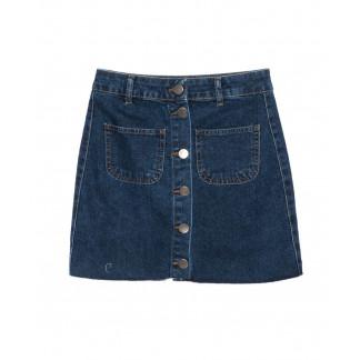 3007-1 Defile юбка джинсовая на пуговицах синяя осенняя котоновая (34-40, евро, 6 ед.) Defile: артикул 1096755