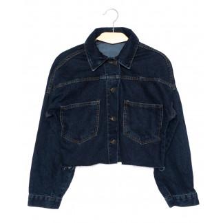 0308-1 X куртка джинсовая женская синяя осенняя стрейчевая (S-L, 4 ед.) X: артикул 1096973