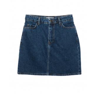 6010-02 Real Focus юбка джинсовая женская синяя осенняя котоновая (26-30, 5 ед.) Real Focus: артикул 1096979