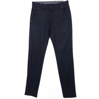 0788-18 New Jarsin брюки мужские темно-синие в клетку осенние стрейч-котон (30-36, 8 ед.) New Jarsin: артикул 1097015