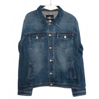 1005-3 R.Kroos куртка мужская батальная джинсовая синяя осеняя котоновая (L-5XL, 6 шт.) R.Kroos: артикул 1097218