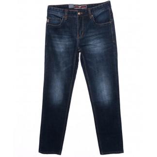 0174 Into джинсы мужские батальные темно-синие осенние стрейчевые (32-40, 8 шт.) Into: артикул 1097227