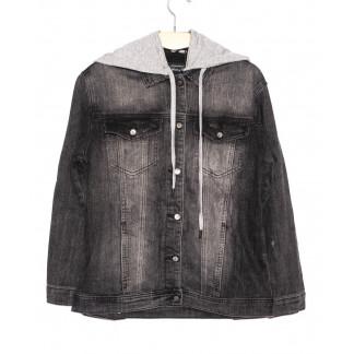 3037 Dimarkis Day  куртка джинсовая женская темно-серая осенняя стрейчевая (S-2XL, 6 ед.)  Dimarkis Day: артикул 1097325