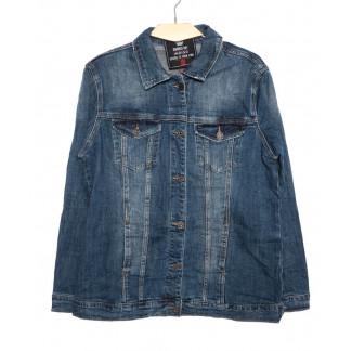 3051 Dimarkis Day  куртка джинсовая женская батальная синяя осенняя стрейчевая (XL-6XL, 6 ед.)  Dimarkis Day: артикул 1097326