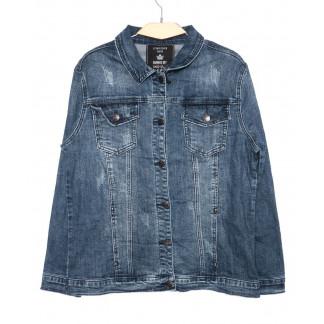 3049 Dimarkis Day куртка джинсовая женская батальная синяя осенняя стрейчевая (XL-6XL, 6 ед.)  Dimarkis Day: артикул 1097328
