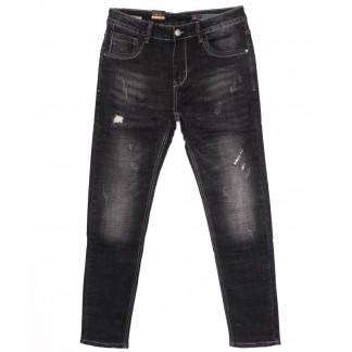 8181 Vouma-Up джинсы мужские молодежные с царапками темно-серые осенние стрейчевые (28-36, 8 ед.)  Vouma-Up: артикул 1097362