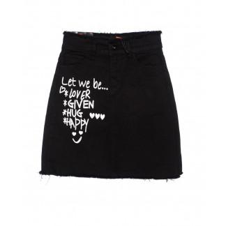 0536 REDMOON юбка джинсовая черная модная осенняя стрейчевая (25-30, 6 ед.)  REDMOON: артикул 1097438