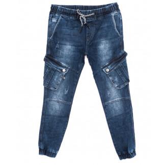 8209 Fangsida джинсы мужские молодежные модные на манжете синие осенние стрейчевые (27-33, 8 ед.)  Fangsida: артикул 1097417