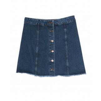 3038 Miele юбка синяя батальная на пуговицах осенняя котоновая (42-50, евро, 5 ед.) Miele: артикул 1097486
