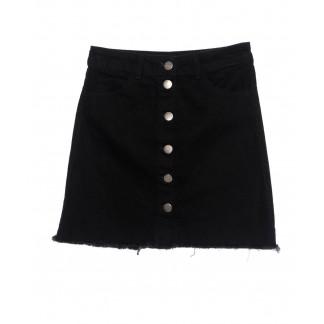 1308-1 Defile юбка черная пуговицах осенняя котоновая (34-40, евро, 6 ед.) Defile: артикул 1097488