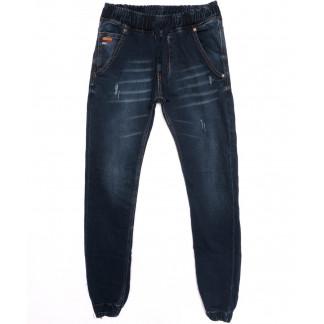 5128 Denim джинсы мужские с царапками на резинке синие осенние стрейчевые (29-36, 8 ед.) Denim: артикул 1097544