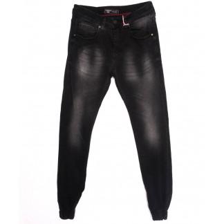 5057 Denim джинсы мужские с царапками на резинке темно-серые осенние стрейчевые (29-36, 8 ед.) Denim: артикул 1097552