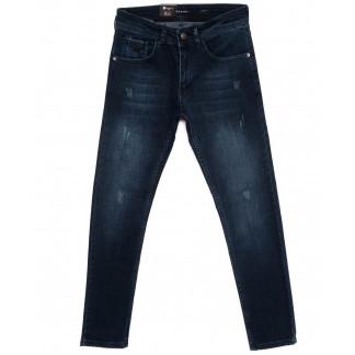 1109 Azarro джинсы мужские с царапками синие осенние стрейчевые (29-38, 8 ед.) Azarro: артикул 1097592