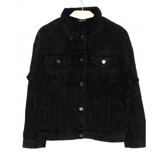 1384 Lady N куртка джинсовая женская черная осенняя котоновая (L-4XL, 6 ед. Lady N: артикул 1097848