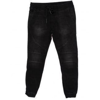 8213 Fangsida джинсы мужские молодежные на резинке с царапками осенние стрейч-котон (27-34, 8 ед.) Fangsida: артикул 1098234