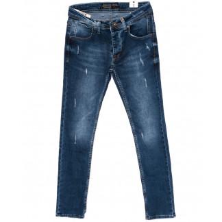 5953 Redcode джинсы мужские с царапками синие осенние стрейчевые (29-36, 8 ед.) Redcode: артикул 1098379