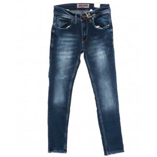 6095 Redcode джинсы мужские с царапками синие осенние стрейчевые (29-36, 8 ед.) Redcode: артикул 1098387