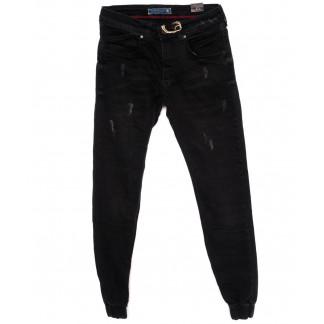 5359 Destry джинсы мужские с царапками черные на резинке  осенние стрейчевые (29-36, 8 ед.) Destry: артикул 1098389