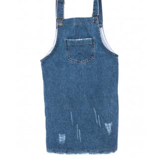 3311 YMR сарафан с царапками синий осенний котоновый (S-L, 6 ед.) YMR: артикул 1098462