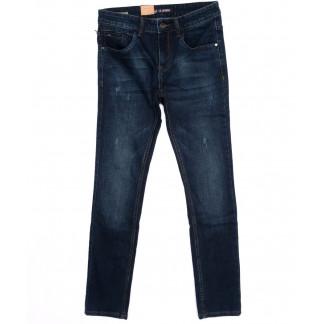 1002-X LS джинсы мужские молодежные с царапками синие осенние стрейч-котон (27-34, 8 ед) LS: артикул 1098502