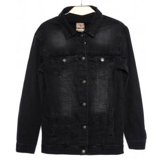 0679 Hepyek куртка джинсовая женская черная осенняя стрейчевая (S-XL, 4 ед.) Hepyek: артикул 1098552